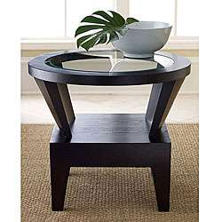 Morgan Round Glass End Table  Overstock