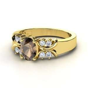 Gabrielle Ring, Oval Smoky Quartz 14K Yellow Gold Ring