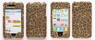 Fancy Leopard Case Bumper Bling Cover Faceplate FITS iphone 4 4s