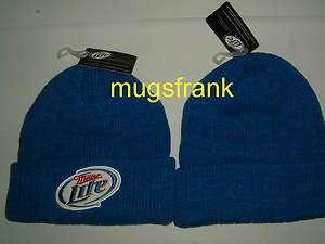 Miller Lite Beer Logo Skull Knit Cuff Hat Nwt