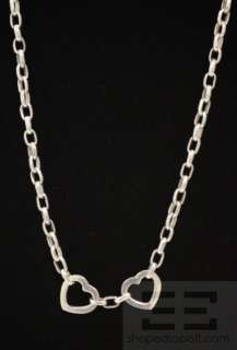 Tiffany & Co. Sterling Silver Double Heart Chain Necklace