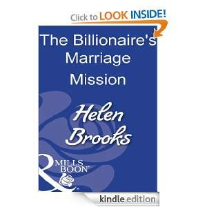 he Billionaires Marriage Mission Helen Brooks  Kindle