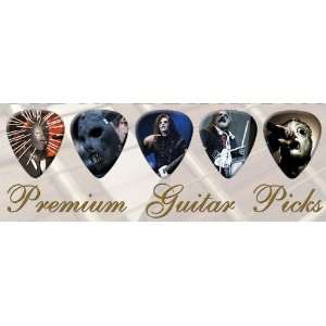 Slipknot Premium Guitar Picks Bronze X 5 Medium Musical