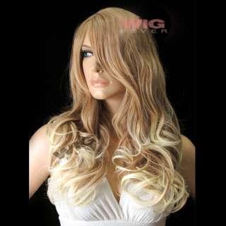 Long Mixed Light Blonde Hair Wigs 1743