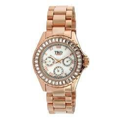 TKO Orlogi Capri Rosetone Multi Function Crystal Bezel Watch
