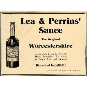 com 1906 Ad Condiment Lea Perrins Bengal Worcestershire Sauce Bottle