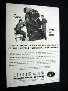 Buffalo Forge Universal Iron Worker machine 1956 Ad