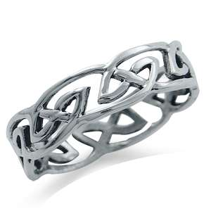 Irish Celtic Knot 925 Sterling Silver Ring Size 6,7,8,9