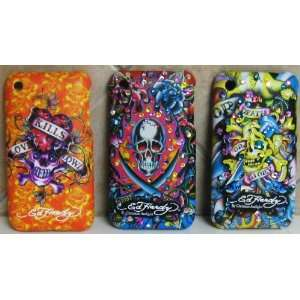 ED HARDY IPHONE CASE Iphone 3g Case Set of 3 Swarovski Detailed Ed