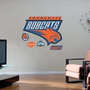 Charlotte Bobcats Team Logo Fathead Wall Sticker