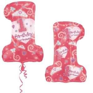 Birthday Princess Jumbo 28 Foil Balloon Party Supplies: Toys & Games