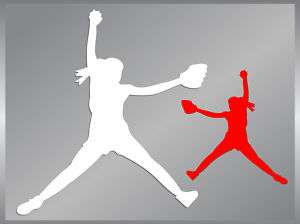 Softball Pitcher #1 cut vinyl decal car iPhone sticker