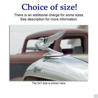 Antique classic Chevy Chevrolet hood ornament LG photo