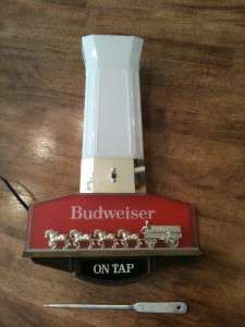 VINTAGE BUDWEISER CLYDESDALES LIGHT CLOCK BEER COLLECTIBLE ANHEUSER