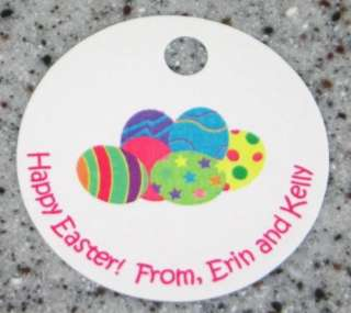 20 Custom Easter Eggs Favor Gift Tags   Holiday Party