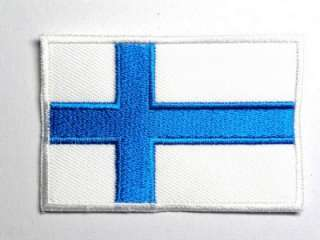 FINLAND CROSS BADGE FLAG IRON ON PATCH EMBROIDERED I028