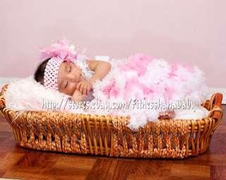 skirt Crochet Beanie headband hair bow clips baby girl 6colors