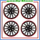set of 4 15 cobra chrome black wheel covers hubcaps