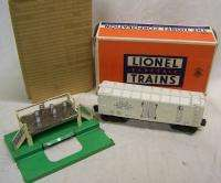 Lionel #3472 milk car set,cans,plat with very nice box/liner insert no