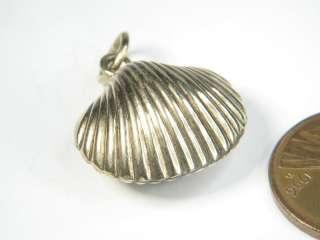 ANTIQUE ENGLISH 9K GOLD GLAZED SHELL LOCKET CHARM PENDANT c1840 LOVELY
