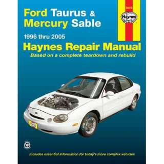 Ford Taurus & Mercury Sable 1996 Thru 2005, Layne, Ken