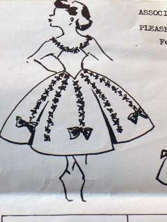 50s Mail Order Girls Pageant Dance Costume Dress Pattern Size 6