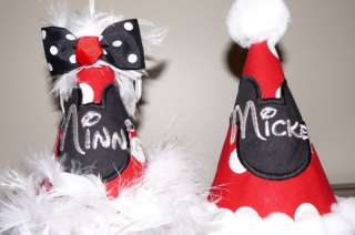 Personalized name mickey minnie mouse birthday hat