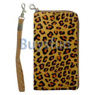 Leopard Zipper Case Bag Wallet Pouch New for Apple iPhone 4 4G 4S 3G