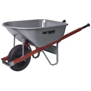 True Temper 6 cu ft Wooden Handle Wheelbarrow Garden Center