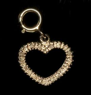 14K Gold Heart Love Valentine Diamond Pendant Charm