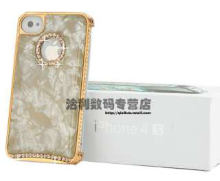 Gold Marble Veins Swarovski Diamond Crystal Hard Case Cover For iphone