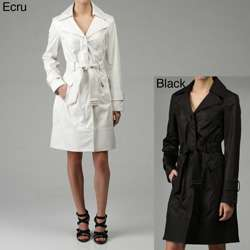 Kenneth Cole Reaction Womens Belted Rain Coat