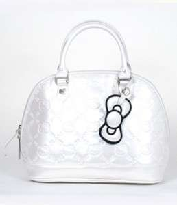 Hello Kitty White Patent Embossed Tote Bag NWT