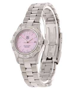 Tag Heuer Womens Pink Mother of Pearl Dial Watch