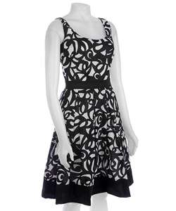 London Times Womens Scoop Neck Dress