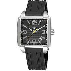 Tissot T Trend Quadrato Mens Black Dial Watch