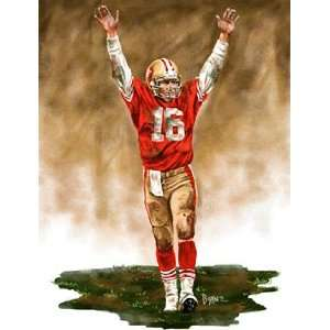 Large Joe Montana San Francisco 49ers Giclee Sports & Outdoors