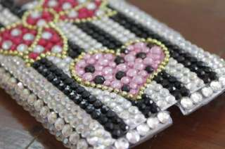 New Bling Diamond Pink Bowknot Back Hard Case Cover For HTC Wildfire