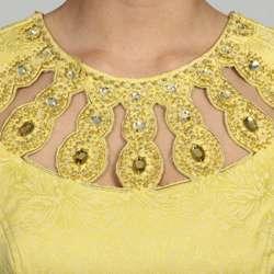 Adrianna Papell Womens Cut Out Neckline Empire Waist Sheath Dress