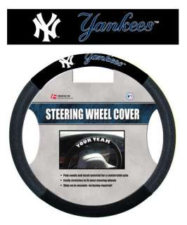 NEW YORK YANKEES MESH SUEDE CAR STEERING WHEEL COVER