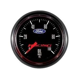 Ford Racing Analog Gauges Gauge, Ford Logo, Oil Pressure, 0 100 psi