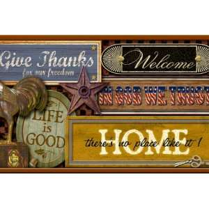 Country Signs Wallpaper Border