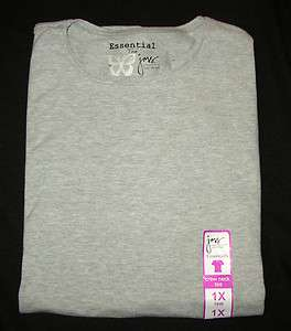 NEW WOMENS JUST MY SIZE CREW NECK TEE SHIRT GRAY 1X 2X 3X