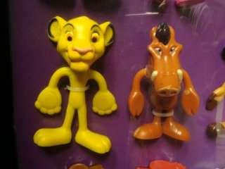 BENDIN FRIENDS COMPLETE DISPLAY 16 DISNEY FIGURES MONSTERS LION KING