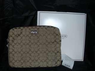 Coach Signature C Laptop Sleeve NWT F70452 School ? 885135754833