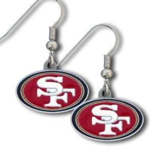 : NFL Dangling Earrings   San Francisco 49ers Logo: Sports & Outdoors