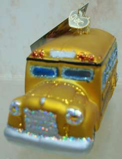 OLD WORLD School Bus ORNAMENT YELLOW Children 44067