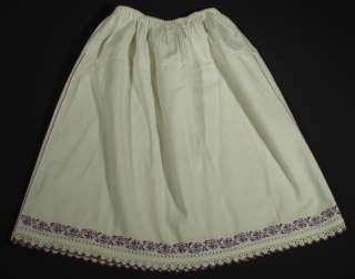 Romanian embroidered peasant skirt ethnic folk costume embroidery lace