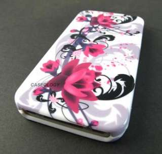 ARTISTIC RED FLOWERS HARD SHELL CASE COVER APPLE IPHONE 4 4s PHONE
