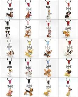 Bull Terrier Black & White Keychain Dog Lover Gifts